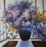 Цветы. Фиолетово-голубой букет