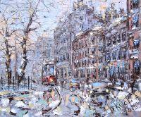Трамвайчик на петербургской улице