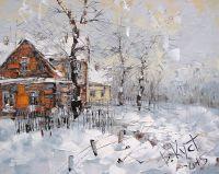 Зимний этюд в деревне