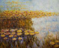 """""""Водяные лилии"""", N4, вольная копия С.Камского картины Клода Моне"""