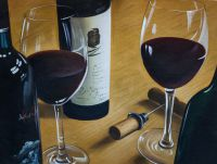 Натюрморт с красным вином N1
