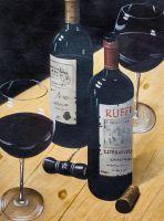 """Натюрморт с красным вином N2"""