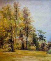 Пейзаж в осенних тонах
