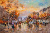 Картина Champs Elysees, Arc de Triomphe (Елисейские Поля, Триумфальная арка, копия Кристины Виверс)