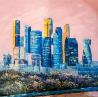 Москва-Сити. Розовый закат