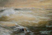Вечернее солнце в бурной воде N2