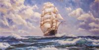 Корабль на гребне волны