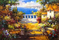 Цветущий сад у моря N1