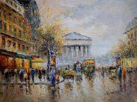 Пейзаж Парижа Антуана Бланшара Rue Royal Madeleine (копия Кристины Виверс)