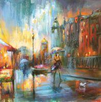 Дождь в большом городе