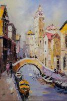 """Пейзаж городской маслом """"Venice. Emotional Color (Венеция. Эмоциональный тон)"""""""