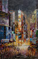 """Пейзаж городской маслом """"Нью-Йорк. Manhattan-jazz (Манхэттен-джаз) N2"""""""