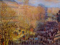 """Копия картины Клода Моне """"Бульвар Капуцинок в Париже (Boulevard des Capucines)"""", 1873 г. (худ. Савелия Камского)"""