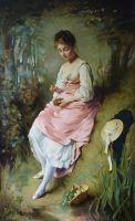 Девушка с гнездом
