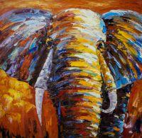 """Картина маслом """"Слон"""""""