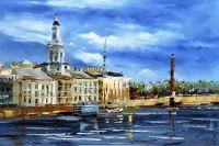 """Городской пейзаж """"Санкт-Петербург. Вид на Кунтскамеру с Невы"""""""