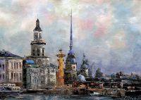 """Городской пейзаж """"Санкт-Петербург. Вид с Невы"""""""