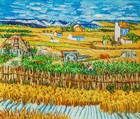 Копия картины Ван Гога Жатва (Урожай в Ла Кро)