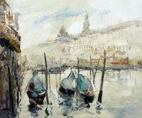 Венеция. Гондолы на Гранд-канале