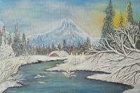 Зимний вечер в горах