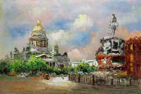 """Городской пейзаж """"Санкт-Петербург. Исаакиевская площадь N2"""""""