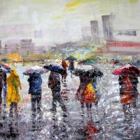 Город под дождем N2