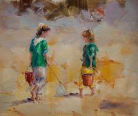Дети на морском берегу. N14