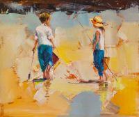 Дети на морском берегу. N15
