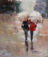 Подруги. Прогулка под дождем