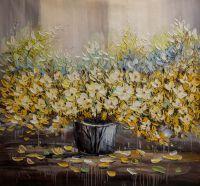 Желтые и голубые цветы