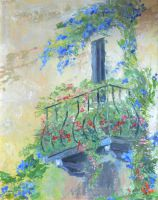 Картина маслом - Балкон.