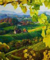 Пейзаж с виноградной лозой, авт. А.Ромм