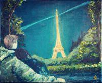 Картина маслом.В Париже.