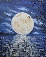 Картина маслом - Луна.