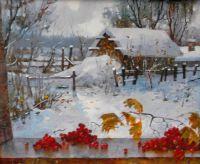 Зима на даче.