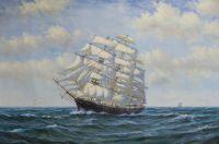 Вольная копия картины Доусона Монтего, Под парусами