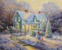 Копия картины Томаса Кинкейда Благословение Рождества