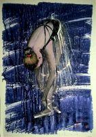 балерина завязывает балетки