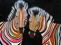 Разноцветные зебры N1