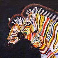 Разноцветные зебры N8