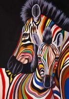 Разноцветные зебры N10