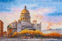 Санкт-Петербург. Вид на Исаакиевский собор