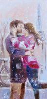 Принт Любовь с оттенком Paris