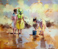 Дети на морском берегу. N17