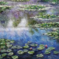 Водяные лилии N8, копия С.Камского картины Клода Моне