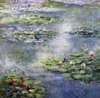 Водяные лилии N9, копия С.Камского картины Клода Моне