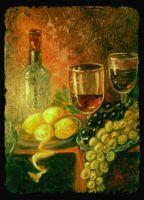 """уютный натюрморт """"вино и фрукты"""""""