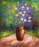 Букет садовых колокольчиков