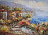 Средиземноморский городок. Вид на бухту