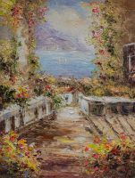 Средиземноморский городок. Вид с балкона